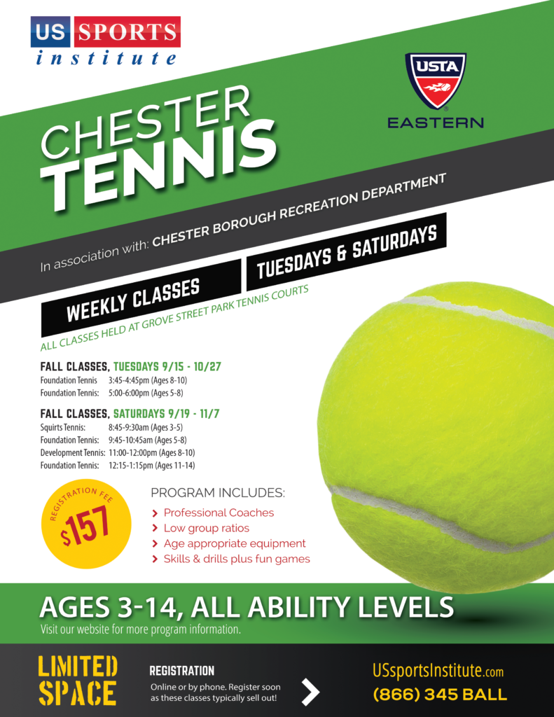 Chester Fall Tennis Flyer