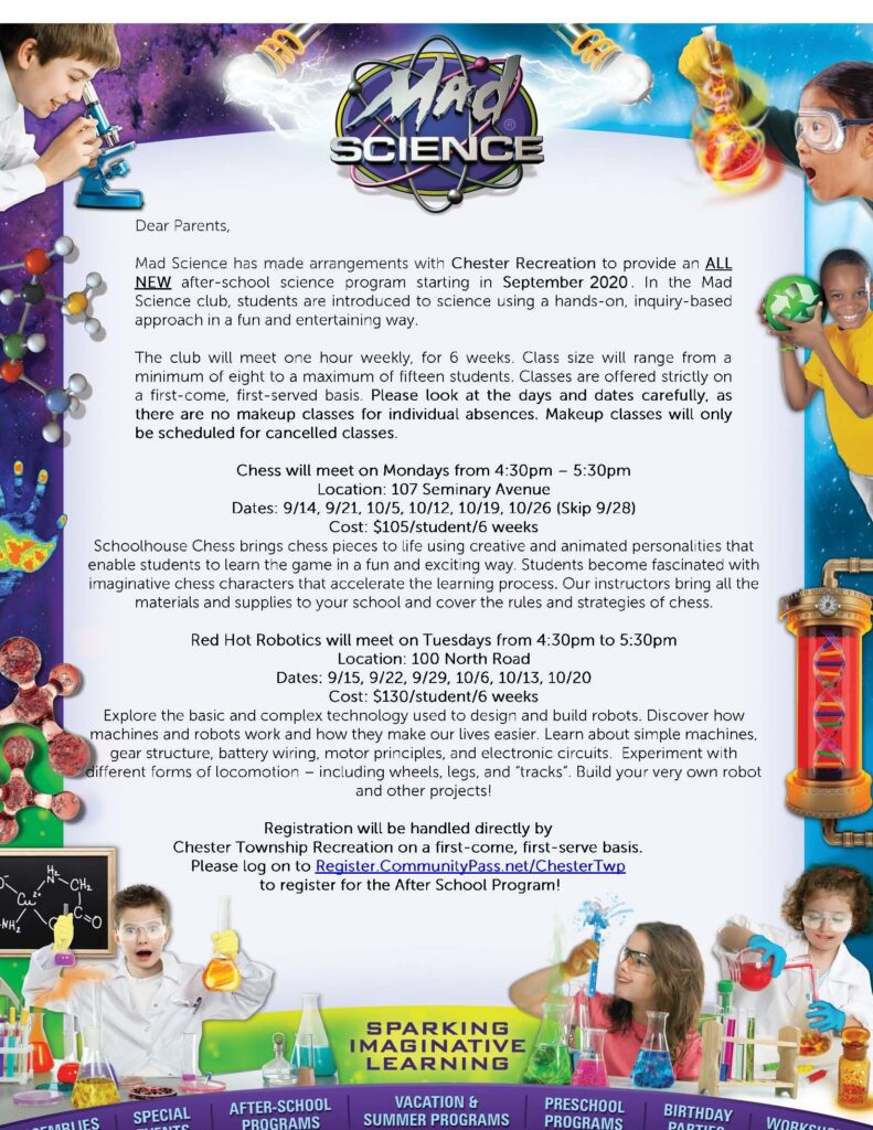 Chester Recreation Mad Science